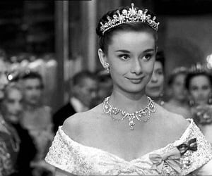 audrey hepburn, black and white, and roman holiday image