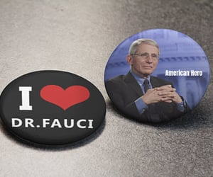 dr fauci etsy, dr fauci pin, and dr fauci button image
