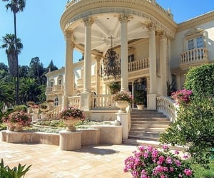 flowers, luxury, and house image