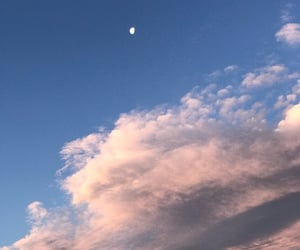 beauty, clouds, and moon image