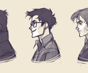 james potter, remus lupin, and marauders image