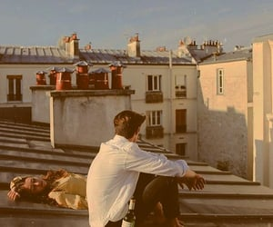 couple, love, and rooftop image