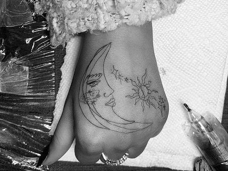 tattoo, hand, and hands image