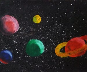 art, stars, and uzay image