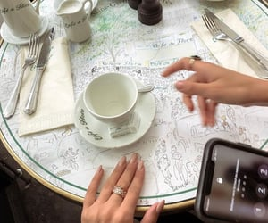 aesthetic, cafe de flore, and drink image