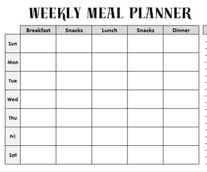 meal planner, diet planner, and meal planner template image