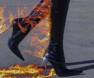 fire, aesthetic, and heels image
