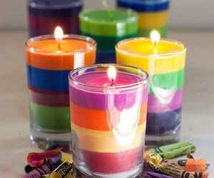 candle and colourful image