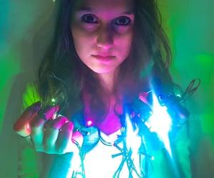 fairy lights, neon light, and light image