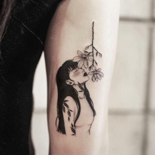 Image About Girl In Tattoos Body Art By Sam Moreyoongi