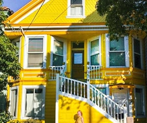 facade, yellow, and home image