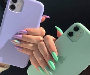 iphone and nails image