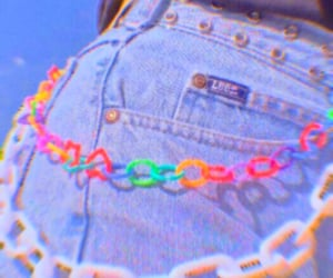 aesthetic, carefree, and rainbow image