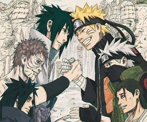 naruto, obito, and kakashi image