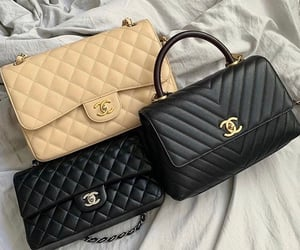 chanel, bag, and beige image