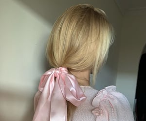 aesthetic, blonde, and ribbon image