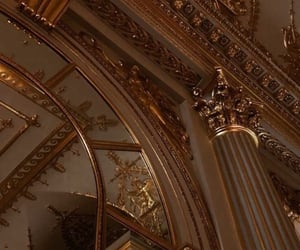 aesthetic, architecture, and gold image
