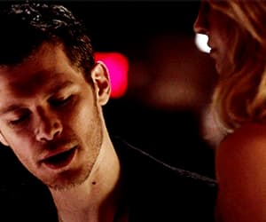 gif, caroline forbes, and klaus mikaelson image