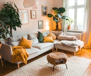 living room, aesthetic, and green image