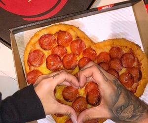 heart, pizza hut, and pepperoni image