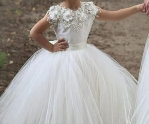 cheap flower girl dress, lace flower girl dress, and kids prom dress image