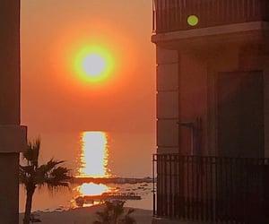 aesthetic, orange, and sunset image