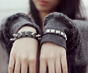 girl, fashion, and bracelet image