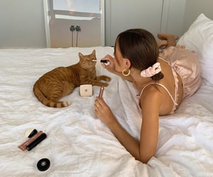 cat, aesthetic, and makeup image
