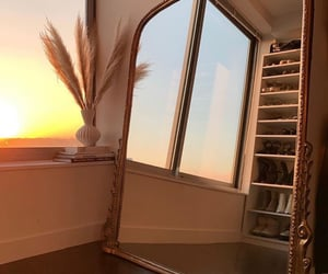 mirror, home, and sunset image
