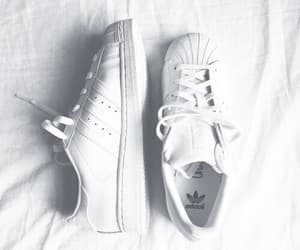 shoes, adidas, and white image