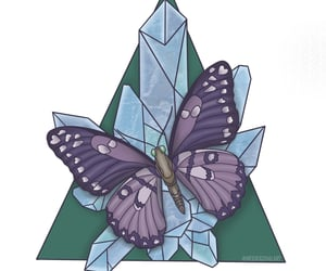 art, artist, and butterfly image