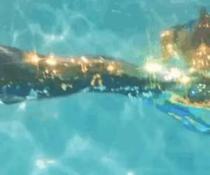gif, glitter, and mermaid image