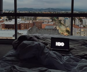 bed, bedroom, and chillin image