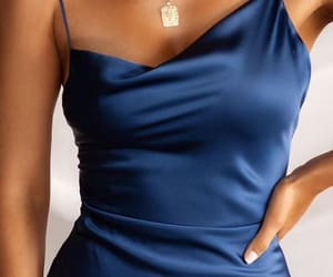 blue, dress, and evening image