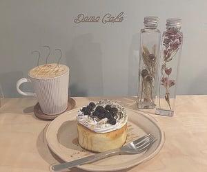 cake, coffee, and cream image