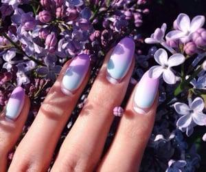 nails, fashion, and purple image