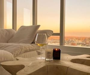 home, wine, and view image