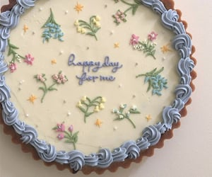 cake, aesthetic, and flowers image