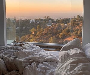sunset, view, and bedroom image