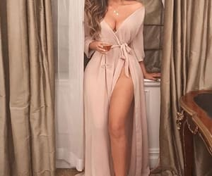 brunette, dress, and fashion image