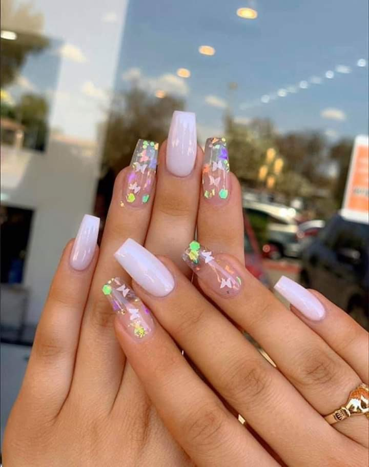 nails, butterfly, and beauty image