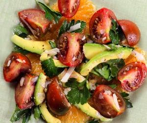 salad, heirloom tomato, and avocado image