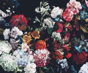 flowers, black, and red image
