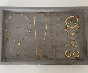 arm candy, necklaces, and outfits image