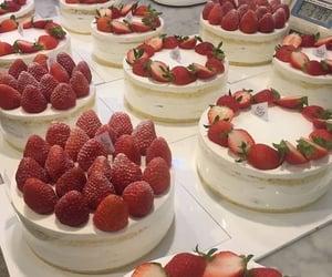 strawberry, cake, and fruit image