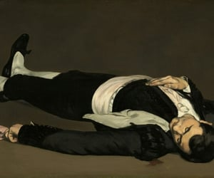 dead, painting, and art image