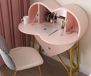pink, heart, and furniture image