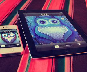 iphone, owl, and ipad image