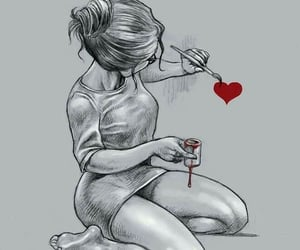 girl, heartbroken, and lost image