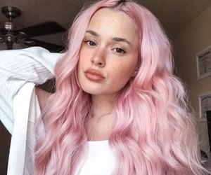 longhair, pink hair, and hairdye image